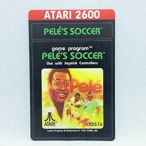 Atari 2600 Cartridge Reproduction Label - Pele's Soccer