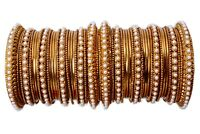 Indian Bollywood Ethnic Heavy Gold Plated Colored Bridal Bangles Set Jewelry