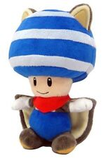 "New Nintendo 8"" Musasabi Blue Toad Flying Squirrel Plush Doll Super Mario"