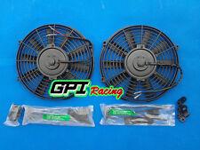 "2*12"" 12V electric radiator thermo fan & mounting kit WRX/EVO/S13-S15/GT-4/Miata"