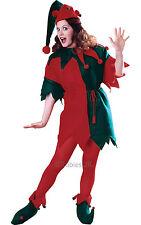 CHRISTMAS FANCY DRESS COSTUME ~ LADIES ELF TUNIC MED/LG