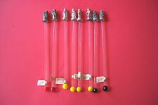 """CHRISTMAS GLASS SWIZZLE  STIR STICKS 8 OF THEM 9"""" LONG OVERAL"""