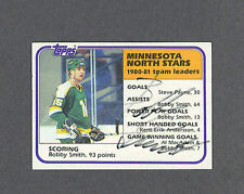 Bobby Smith signed North Stars Team Leaders 1981-82 Topps hockey card