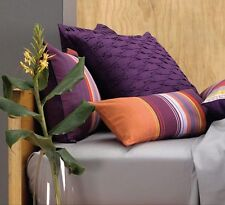 LINEN HOUSE Pair European Pillowcases ACAPULCO 65x65cm cotton GRAPE PLUM