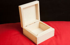 UNPAINTED NEW  WOODEN  BOX FOR JEWELLERY / WOODEN BOX 11CM / ART CRAFT DECOUPAGE