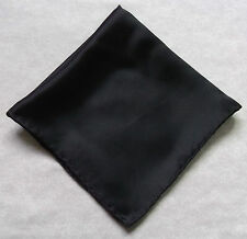 Hankie SILK Pocket Square Handkerchief MENS Hanky BLACK