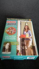 BNIB Magic Mesh hands free black screen door - magnetic closures - caravan?