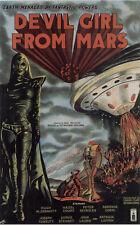 Devil Girl de Marte década de 1950 B Movie Poster A3 reimpresión