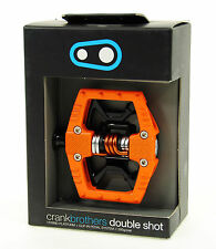 Crank Brothers Double Shot Clipless Platform Mountain Bike Pedals Orange