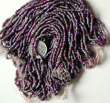 Magenta Chrome Bronze Lavender Vintage Shimmery Seed Beads 5Mini Hanks (6506730)