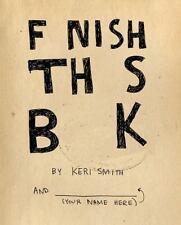 Finish This Book, Keri Smith, Good Book