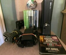 Xbox 360 S 250Gb Black Console With 10+ Games And Mw3 Bluetooth Cod Halo & More