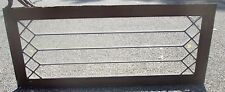 """Great Buy ! Antique Beveled Glass 49"""" Long Transom Window Arts & Crafts # 645"""
