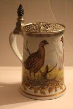 """Franklin Porcelain """"Game Bird Stein"""" Ltd. Ed. 1981 by Haviland Limogues"""