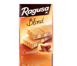 Ragusa Blond 100g - Swiss white chocolate with hazelnuts - from Germany