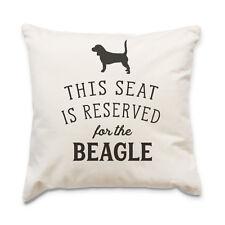 NUEVO - Reserved for the Beagle - Funda De Cojín - Perro Regalo Regalo Navidad