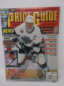 Sports Card Price Guide March 1994 WAYNE GRETZKY Cover