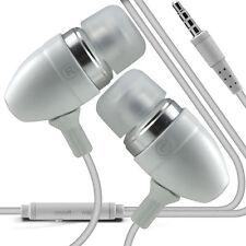 Twin Pack - White Handsfree Earphones With Mic For Motorola Moto G 2nd Gen