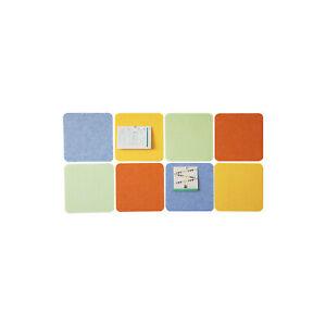 8 PCS Colorful Felt Bulletin Memo Boards Self-adhesive Photo Display Wall Decor