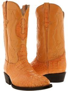 Genuine Crocodile Hornback Mens Western Leather Mango J Toe Cowboy Boots Exotic