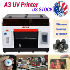 A3 UV Printer 6 Color for Bottles tin Cylindrical  Signs 3D Rotation Embossed US