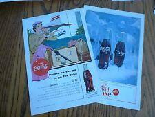 Coca-Cola Color print ads (2) Traveler