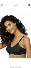Bali Lace ' N Smooth Underwire Bra Seamless Full Stretch Cup  , Black 42d,