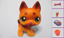 Littlest Pet Shop Dog German Shepherd 357 and Free Accessory Authentic Lps