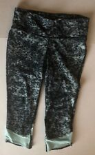 Under Armour capris green & black patterned-Women's XS