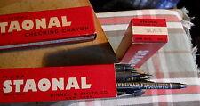 "Box of 12 Black*Staonal Binney & Smith #1 Checking Crayon 6"" Long *vintage"