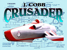 Model Speed Boat Plans Scale 1/32 and 1/12 for Radio Control J Cobb CRUSADER