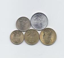 CHILE 1971 - 1972 5 HIGH GRADE COINS SET 10 20 50 CENTESIMOS 1 5 ESCUDOS KNIGHT