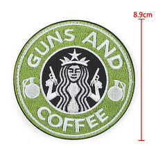 Tactical Guns And Coffee Hook Loop Morale Military Embroidered Patch Starbucks