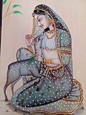 Todi Ragini Miniature Painting India Rajasthani Ethnic Handmade Ragamala Art