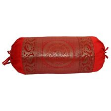 Red Bolster Cover Mandala Pillow Cushion Cylindrical Neck Roll Sofa Bolsters
