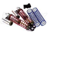 Integy MSR9 Rear Piggyback Silver Shocks Traxxas 2WD Stampede Slash INTT7964S