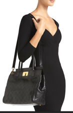 NEW Marc Jacobs Buddy STAM Quilted Satchel Black with Antique Gold $1295+