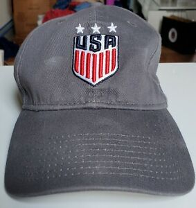 Nike Pro USA Soccer Hat Snapback Blue Unisex Adjustable Cap Crest Shield