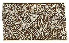 Floral Pattern Stamp Block Hand Carved Wooden Textile Stamp Block Printing