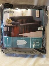 Maytex Pixel Ultra Soft Stretch Sofa Couch Cover Furniture Slipcover Black