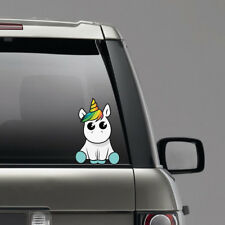 Lovely Unicorn Car Sticker Cartoon Window Decal PET Waterproof Reflective cute