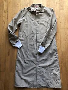 Red Kap Beige Unisex S Lab Coat Frock Butcher Coat Knit Cuffs Pocketless Poly