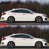 Fits 16-20 Honda Civic Sedan Window Trim Chrome Delete Vinyl Kit