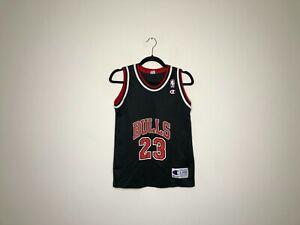 Vintage Kids Champion Michael Jordan Chicago Bulls NBA Jersey Sz. L