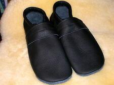 Lederpuschen  Gr.41 ,  schwarz , Hausschuhe , Echtleder , No-name , Gummizug