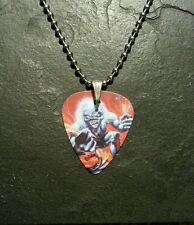 Iron Maiden Live One Eddie Guitar Pick Dog Tag Style Necklace Pendant Charm Gift