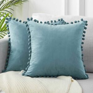 Cushion Cover Soft Velvet Decorative Pillows Throw Case Solid Luxury Homes Seat