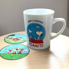Snoopy and Woodstock Mug Cup with 2 Paper Coaster Beautiful Day Limited in Japan