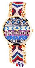 Markenlose Armbanduhren mit Textilgewebe-Armband für Damen
