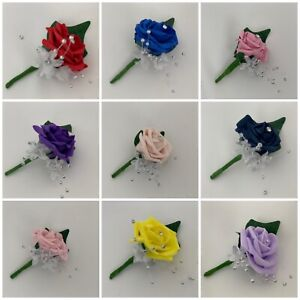 Buttonholes page small Childs single, grooms,best man corsage ,wedding flowers